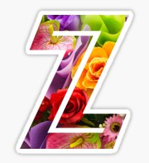 The Letter Z - Flowers Sticker