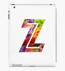 The Letter Z - Flowers iPad Case/Skin