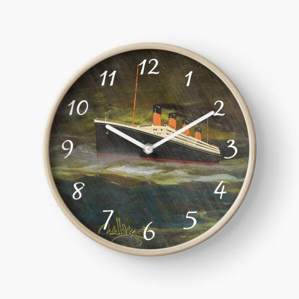 Titanic in Rain and a Rough Sea Clock