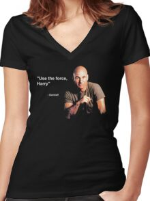 """""""Use the force, Harry"""" - Gandalf Women's Fitted V-Neck T-Shirt"""