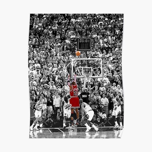 Michael Jordan Shot ball  Poster