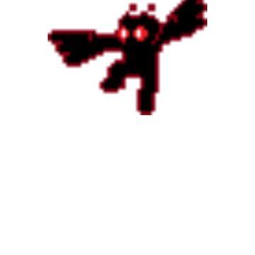 8Bit Mothman by Cryptidbits1980