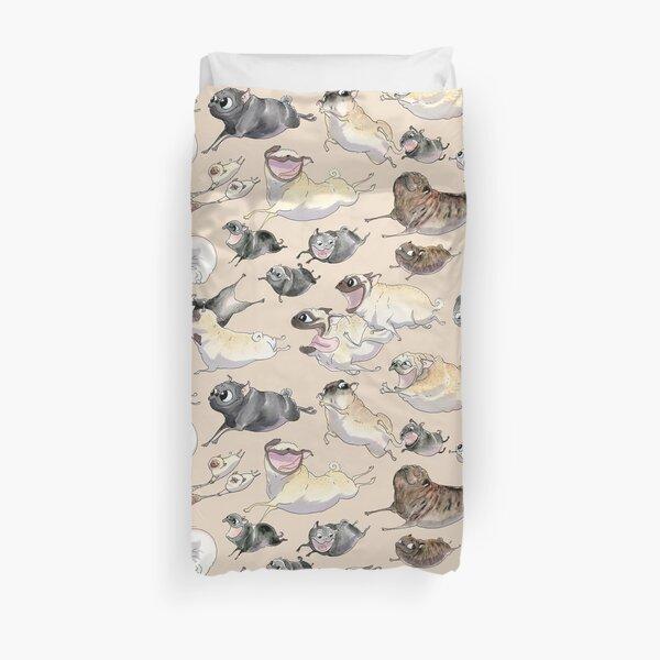 Pugs on the Run! Duvet Cover