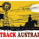 Outback Australia stockman and windmill design by Al Benge