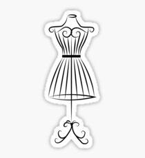 Vintage Mannequin Stand Sticker