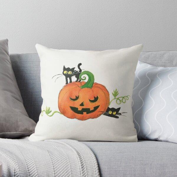 Pumpkin Patch Buddies Throw Pillow