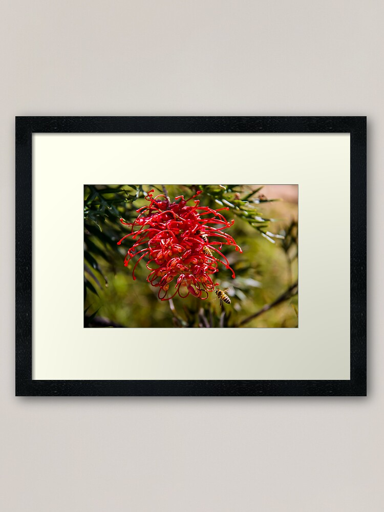 Alternate view of bees to the honey Framed Art Print