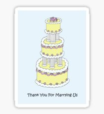 Thank you for marrying us. Sticker
