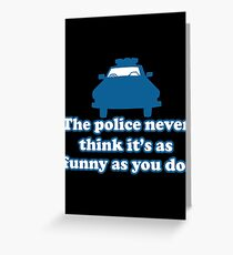 police Greeting Card