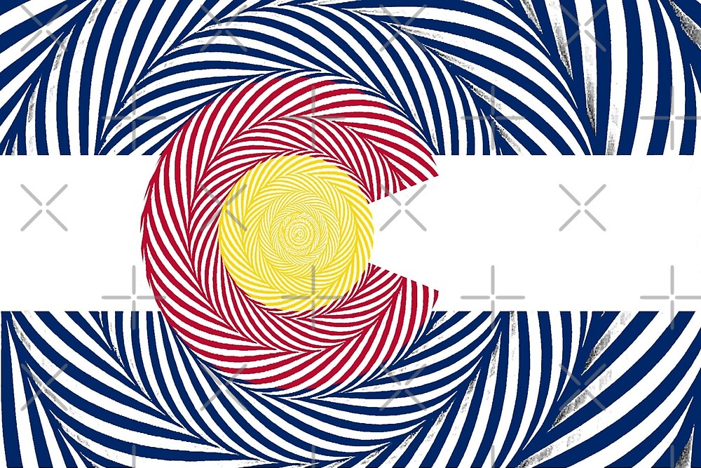 Optical Illusion CO Flag by Emily Christine Lankford