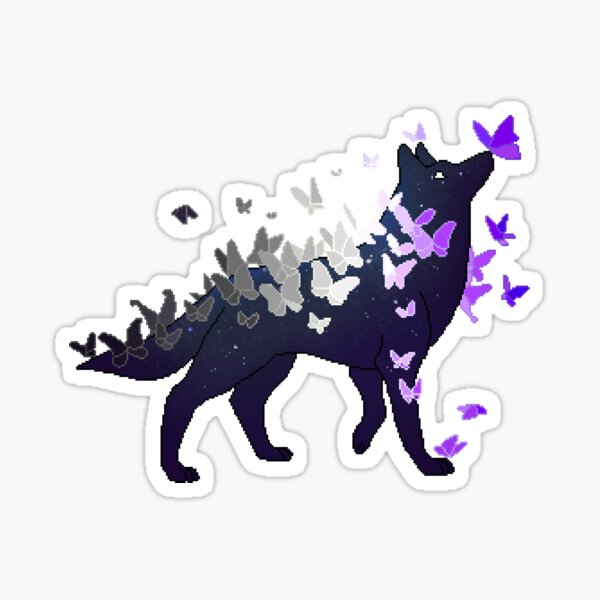 Asexual Pride Galaxy Wolf (Requested) Sticker