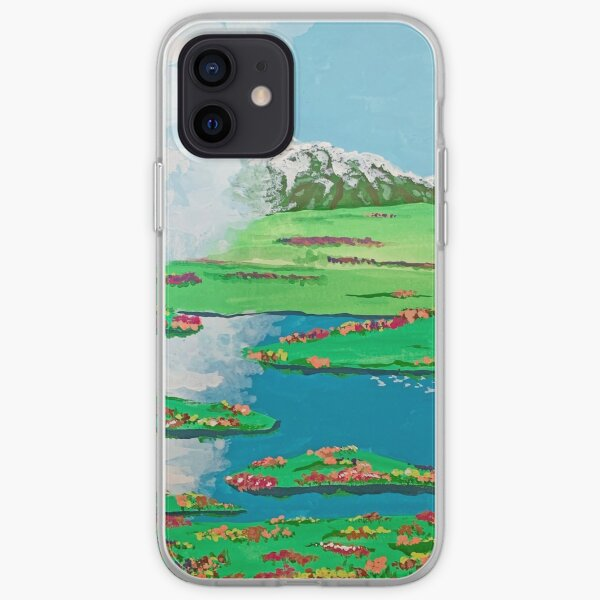 Howls Moving Castle Field Scene iPhone Soft Case