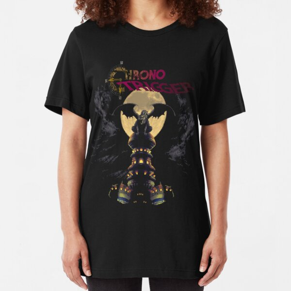 Chrono Trigger (SNES) Magus's Tower  Slim Fit T-Shirt