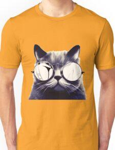 Vintage Cat Wearing Glasses Unisex T-Shirt