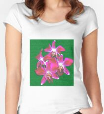Artistic Orchid Women's Fitted Scoop T-Shirt