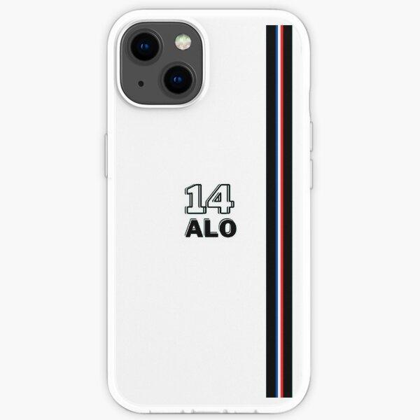 Fernando Alonso Alpine F1 Team 14 Diseño Funda blanda para iPhone