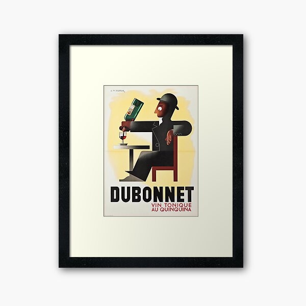 Dubonnet wine Framed Art Print