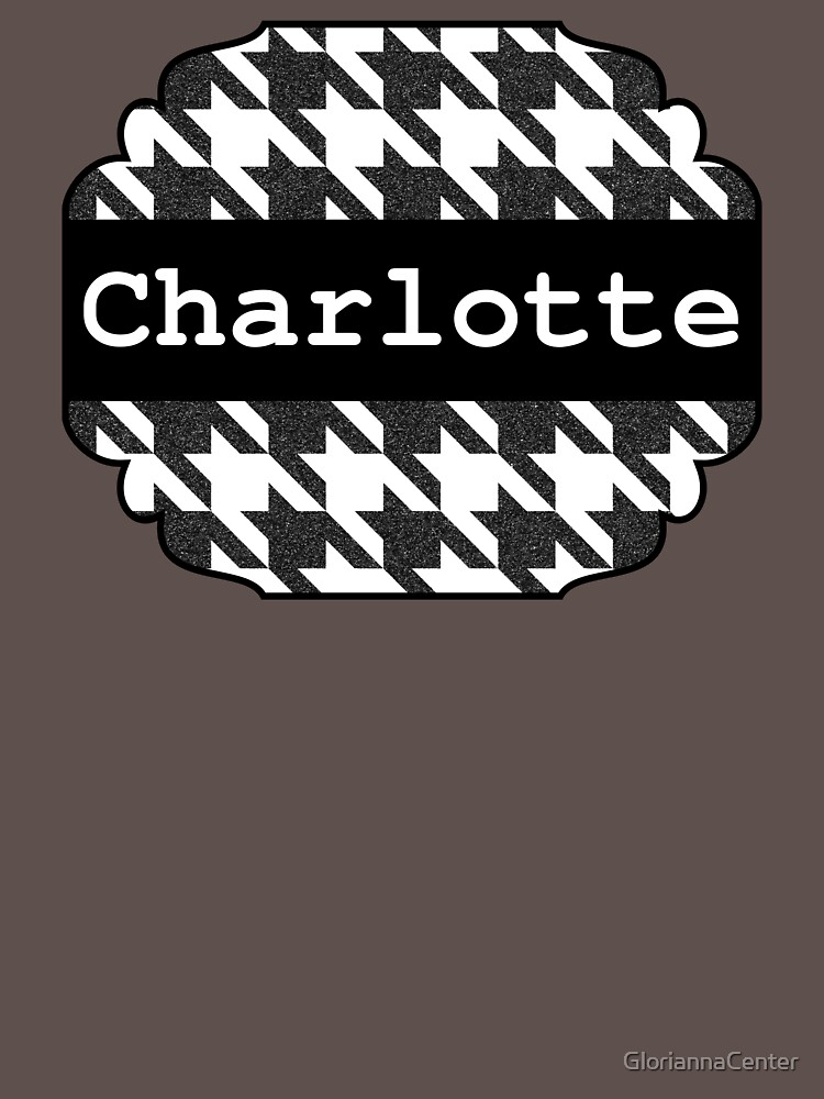 Houndstooth design with name Charlotte by GloriannaCenter