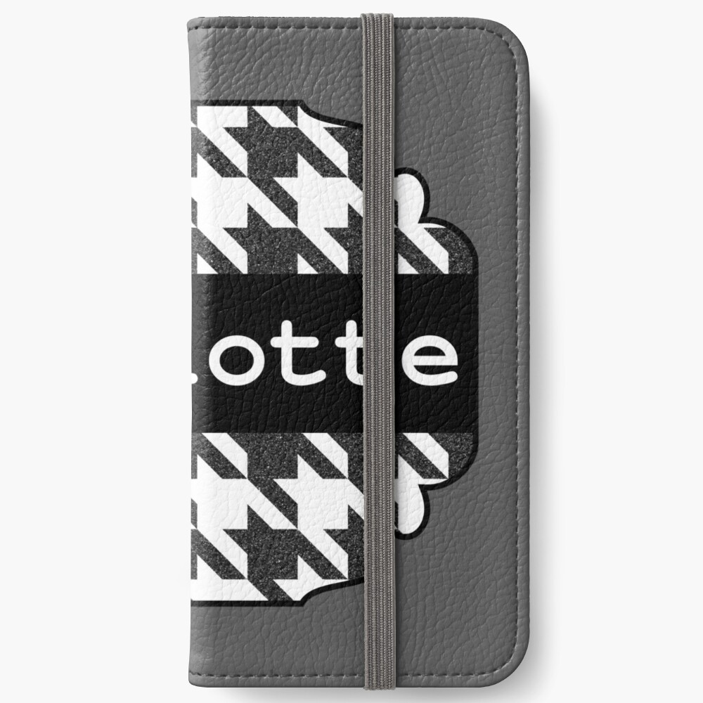 Houndstooth design with name Charlotte iPhone Wallet