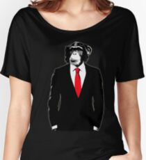 Domesticated Monkey Women's Relaxed Fit T-Shirt
