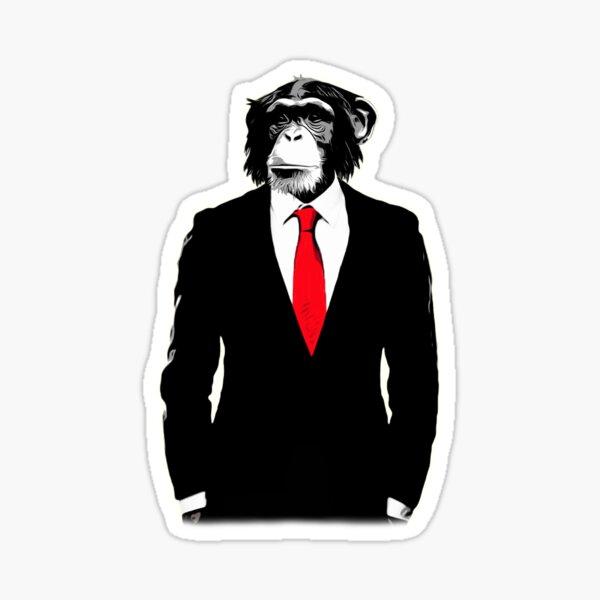 Domesticated Monkey Sticker