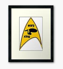 warp xing Framed Print