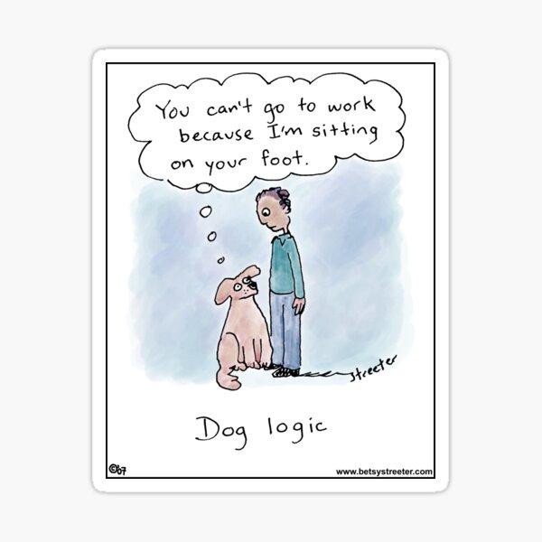Dog Logic: From Brainwaves by Betsy Streeter Sticker