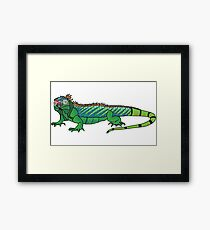 Short-sighted iguana Framed Print