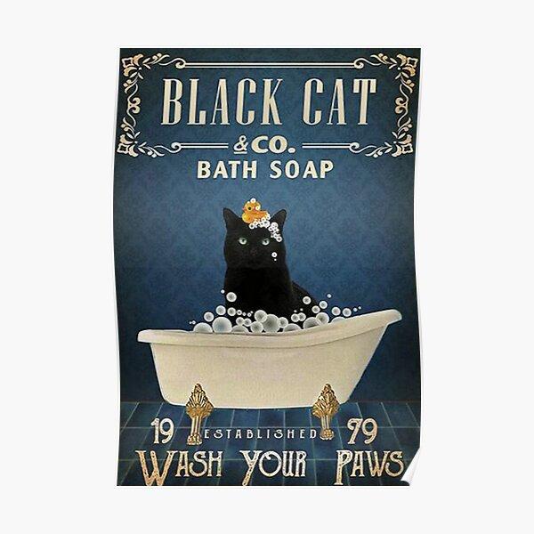 Black Cat & Co. Bath Soap Poster
