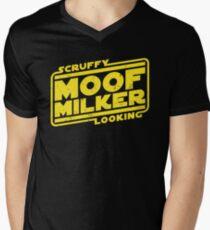 Scruffy Looking Moof Milker Men's V-Neck T-Shirt