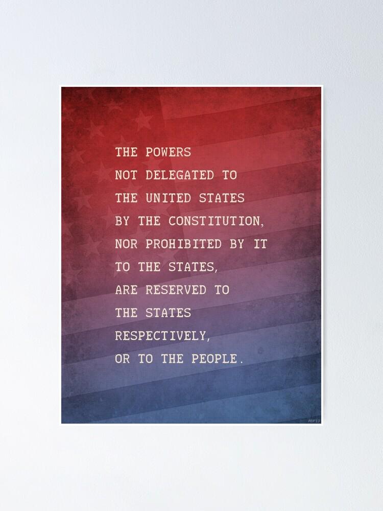 Alternate view of Tenth Amendment Poster