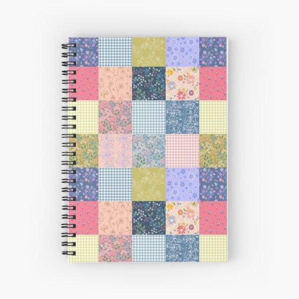 Bohemian patchwork quilt  Spiral Notebook