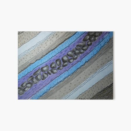 Stratigraphy IV - Blue and grey Art Board Print