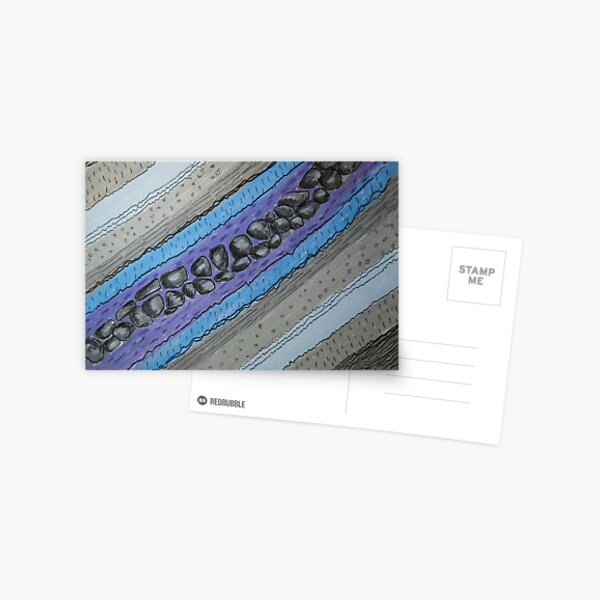 Stratigraphy IV - Blue and grey Postcard