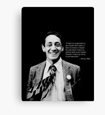 "Harvey Milk - ""Rights"" Quote Canvas Print"