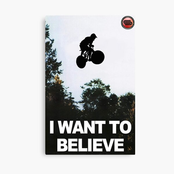 cyclostock - I WANT TO BELIEVE Canvas Print