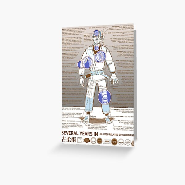 BJJ - Several Years In - Sepia Greeting Card