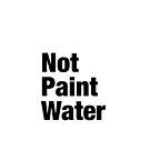 Not Paint Water by Mycroft Wells