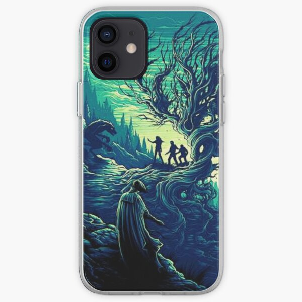 Vert arbre magique Coque souple iPhone