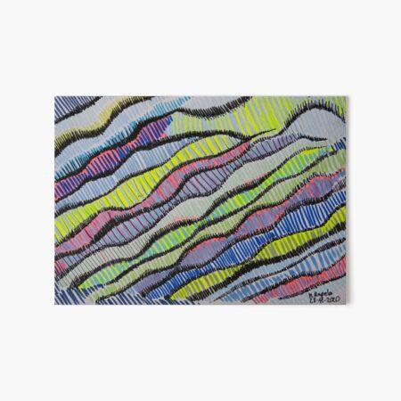 Waves of colors Art Board Print