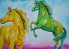 Yellow And Green Horse by Juhan Rodrik