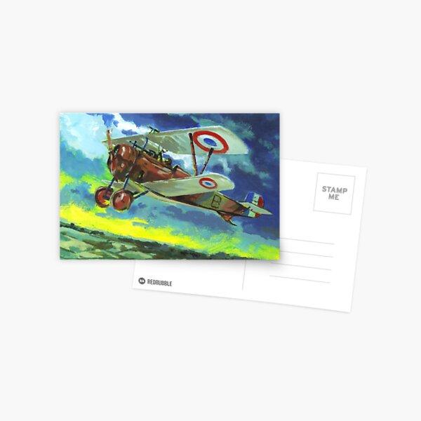 Great War biplane Nieuport 17 Postcard