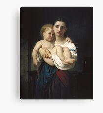 William Bouguereau  - The Elder Sister Canvas Print