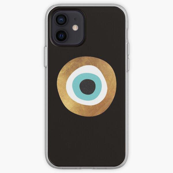 Gold Evil Eye Bohemian Charm iPhone Soft Case