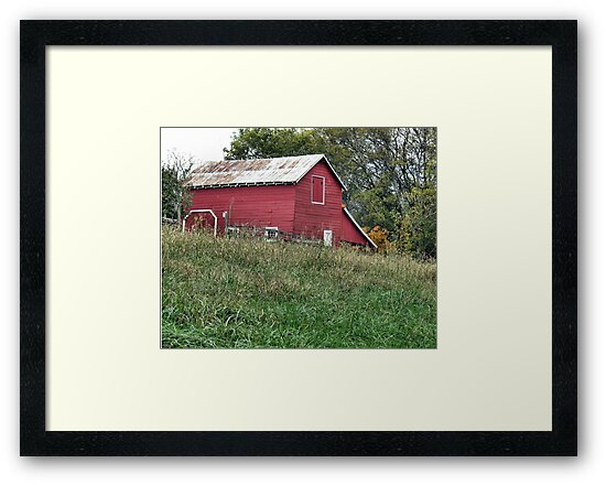 """""""Red Barn""""... prints and products by © Bob Hall"""