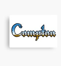 Compton in Chrome style Canvas Print
