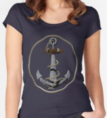 Anchor With Rope Women's Fitted Scoop T-Shirt