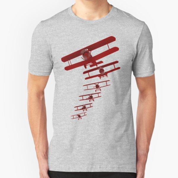 Retro Biplane Graphic Slim Fit T-Shirt