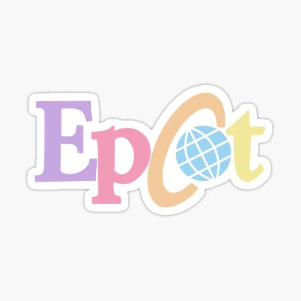 Pastel old Epcot logo Sticker