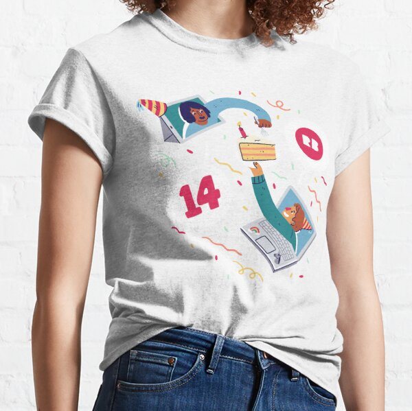 Redbubble's 14th Birthday  Classic T-Shirt